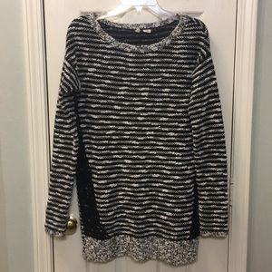 Anthropologie Moth striped tunic sweater Small